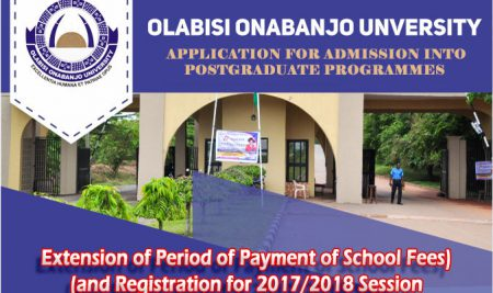 Extension of Period of Payment of School Fees and Registration for 2017/2018 Session