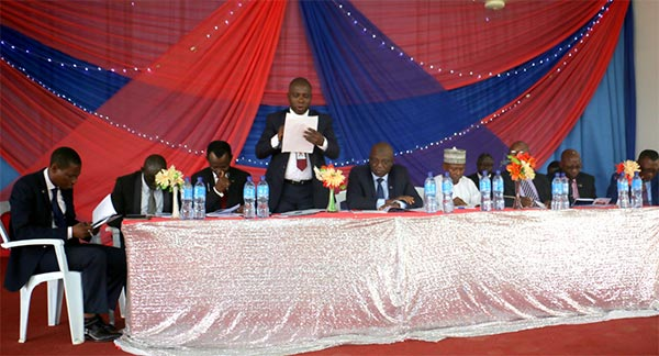 Board of Directors of OOU Microfinance Bank including the Chairman of the Board, Prof. G.O. Olatunde