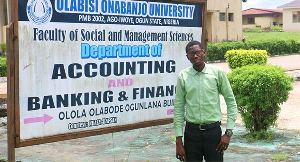 Faniyi Al-Mustapha, the 2nd Runner-Up at the Maiden Edition of the Otunba Mrs. Osibogun Essay Competition for Banking & Finance Students in Tertiary Institutions