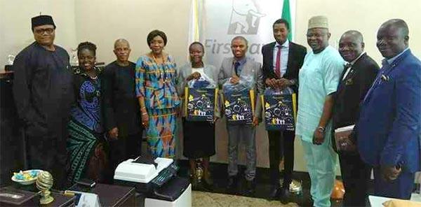 The MD/CEO, First Bank of Nigeria, Dr. Sola Adeduntan 2nd Runner-Up, Faniyi Al-Mustapha