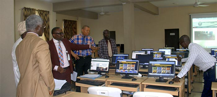 University Librarian, Dr. Adebambo Oduwole, NUC Accreditation Team, Transport Management