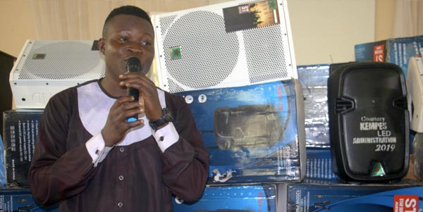 SUG President, Mr. Afolabi Akinbo, Public Address System